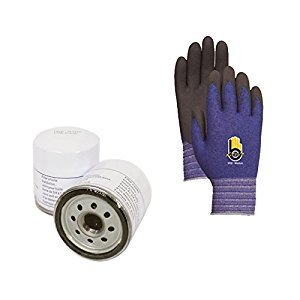 MowerPartsGroup Pair of Replacement Bad Boy Hydraulic ZT CZT Filters 063-1050-00 ZT 3100, 3200, 3400 with Work Gloves