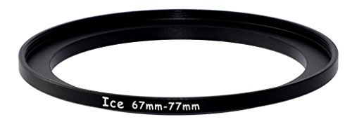 ICE 67mm to 77mm Step Up Ring Filter / Lens Adapter 67 male 77 female Steppi