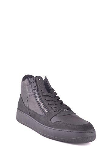 Hogan Hi Top Sneakers Uomo Mcbi148354o Pelle Nero