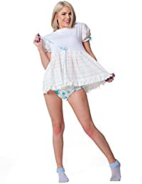 White Baby Doll Dress - Peek-A-Boo Diaper Dress