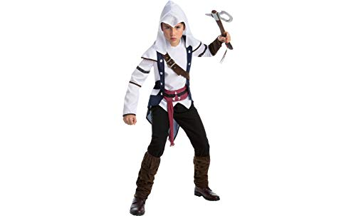 AFG MEDIA LTD Connor Assassins Creed Halloween Costume for Boys, Large, with Included -
