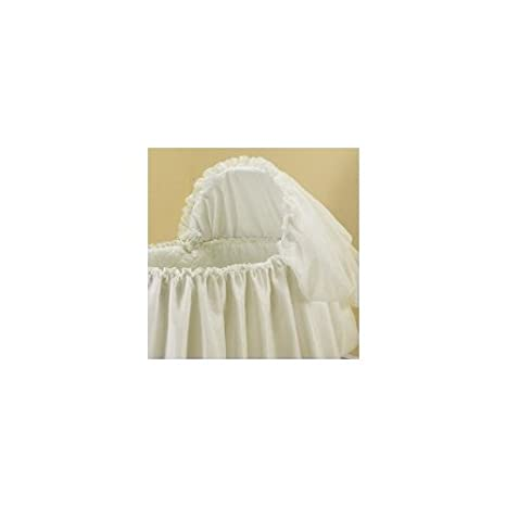 Babykidsbargains Paradise Rainbow Ecru Bassinet Liner Skirt and Hood 16 x 32