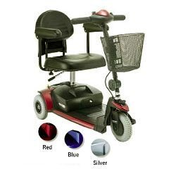 PRIDE MOBILITY SCOOTER GO-GO ELITE SCOOTER 3 WHEEL W/CHARGER, 12ah BATTERIES & FLAT FREE TIRES ()