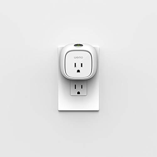 Wemo Insight Smart Plug with Energy Monitoring, WiFi Enabled, Control Your Devices and Manage Energy Costs From Anywhere, Works with Alexa and the Google Assistant