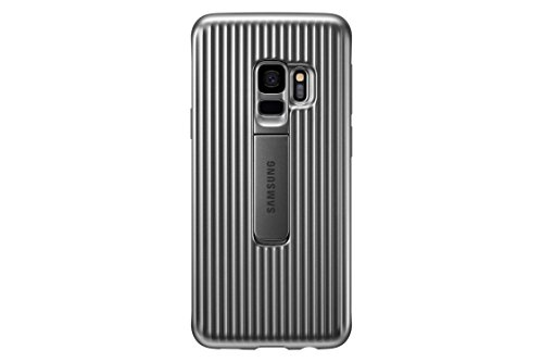 Samsung Galaxy S9 Rugged Military Grade Protective Case with Kickstand, Silver