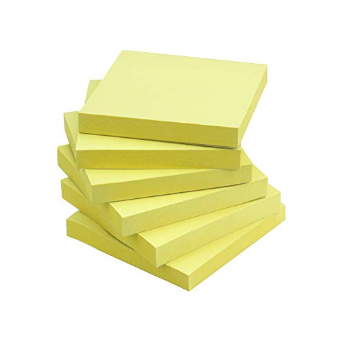- Early Buy Sticky Notes 3x3 Self-Stick Notes Yellow Color 6 Pads, 100 Sheets/Pad (Yellow)