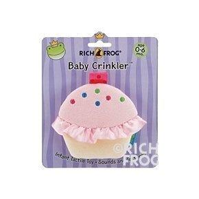 Plush Baby Crinkler- Cupcake