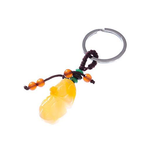 Prime Feng Shui Jade Pi xiu Pi yao Key Chain Car Key Chain Bring Good Luck Amulet for Men/Women Gift
