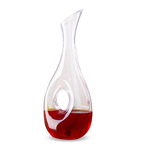 Asvert Wine Decanter 100% Hand Blown Lead-Free Crystal Glass, 1.3L Red Wine Carafe Gift Accessories
