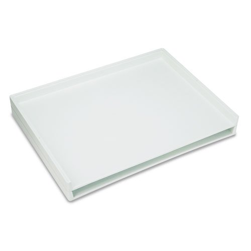 Giant Stack Flat File Trays, 45-1/2w x 34d x 3h, White, 2/Carton by Safco