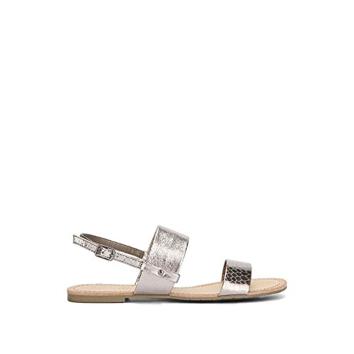 Reaction Kenneth Cole Justine Mixed Materials Sandal - Women's - Gunmetal