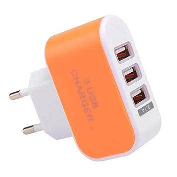 3 Puertos USB Cargador de Pared Adaptador de Cargador de Energía Casa Viajar para Telefono Movil Enchufe de la UE
