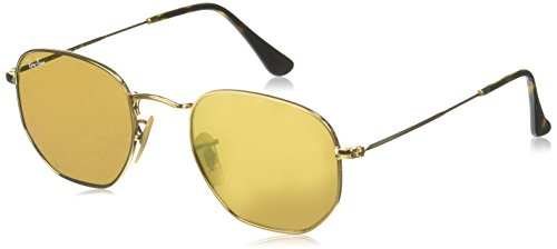 Ray-Ban METAL MAN SUNGLASS - GOLD Frame GOLD FLASH Lenses 48mm - Lenses Gold Flash