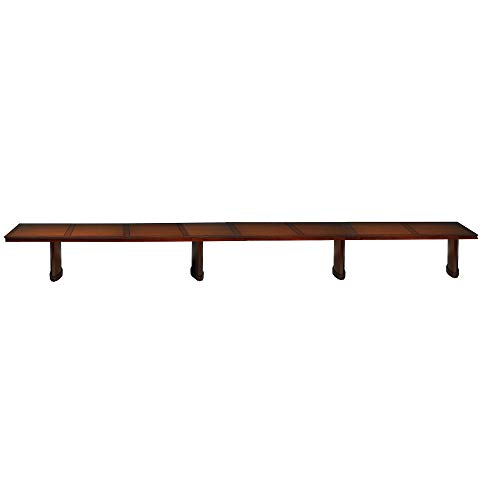 Mayline SC24SCR Sorrento Rectangle Conference Room Table, 24'W x 4.5'D, Bourbon Cherry ()