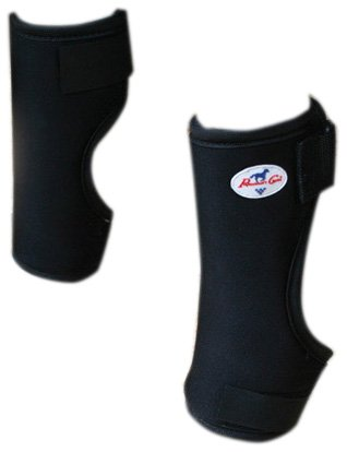 Professionals Choice Equine Bed Sore Boot Front Leg, Pair (Universal Size, Black) by Professional's Choice