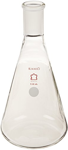 Kimble 617000-0624 Tilting Dispensers Fixed Volume Flask, Standard Taper Joint 24/40, 500mL Capacity