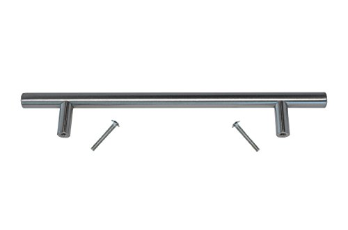 "(50 Pack 9"" T-Pull Style Brushed Nickel Kitchen Drawer Pulls 