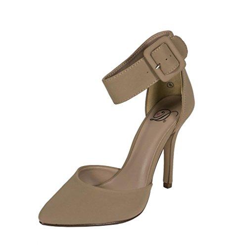 Aveta! Kvinnor D-orsay Spetsiga Nära Tå Hög Klack Pumpar Klack Sandaler Havregryn Nubuck Läder