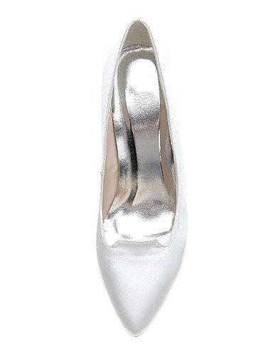 ShangYi Schuh Damen - Hochzeitsschuhe - Spitzschuh Büro - High Heels - Hochzeit / Büro Spitzschuh / Party & Festivität - Schwarz / Blau / Elfenbein / Weiß , 4in-4 3/4in-Blau- c25ef5