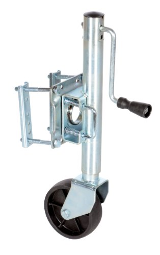 800 Lb Swivel Jack - Vestil TJ-06 Side Swivel and Wheel Trailer Jack, 800 lbs Capacity, 10
