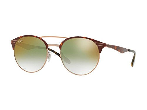 Ray-Ban 0rb3545 Round Sunglasses, Copper on Top Havana, 51 mm