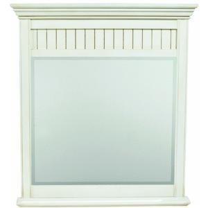 SUNNYWOOD PRODUCTS BB3640MR Bristol Beach Framed Bevel Mirror, Burnished White, 36