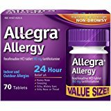 Health & Personal Care : Allegra Adult 24 Hour Allergy Tablets, 180Mg, ( 70 Count )