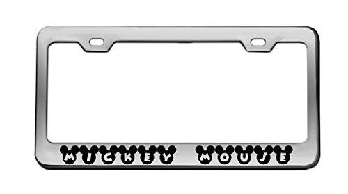Amazon.com: Strawbaru MICKEY MOUSE Chrome License Plate Frame Tag ...