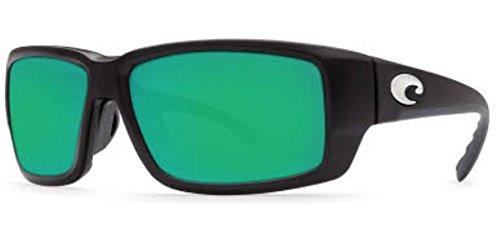 COSTA DEL MAR FANTAIL MATTE BLACK GLOBAL FIT GREEN MIR - 580g Green Fantail Costa
