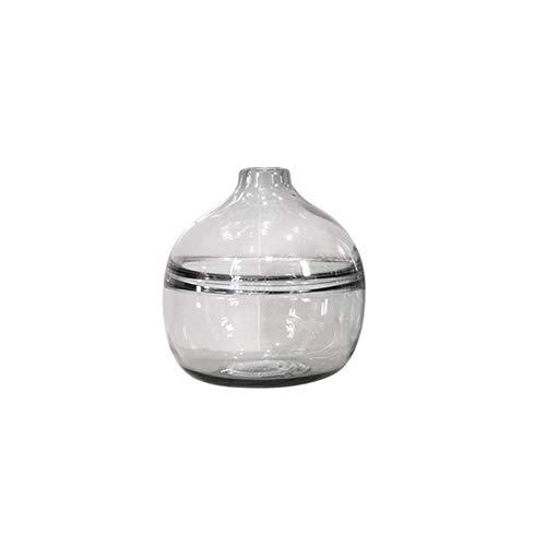 家庭用ガラス花瓶、リビングルーム、フラワーアレンジメント、装飾品 SHWSM (サイズ さいず : 20.3×18.8cm) B07RWX5BVQ  20.3×18.8cm