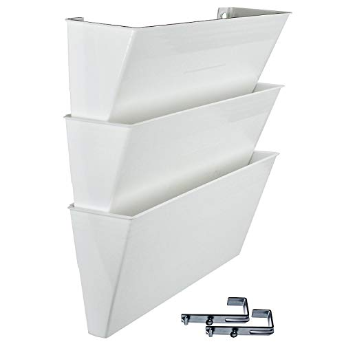 - Acrimet Wall-mounted Modular File Holder (3 - Pack) (White Color)