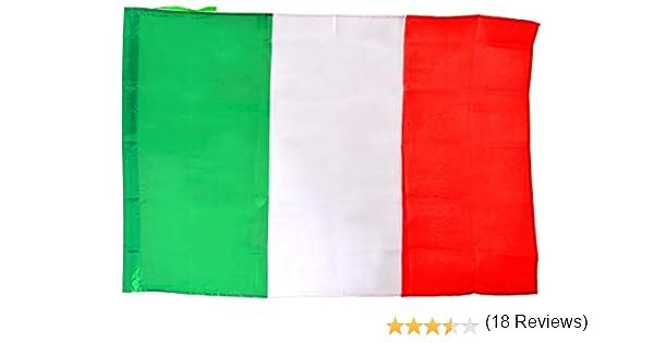Ciao, 22093 - Bandera de Italia de tela con asta, verde/blanco/rojo, 90 x 60 cm: Amazon.es: Juguetes y juegos