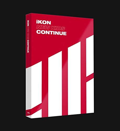Genie Music iKON - NEW KIDS : CONTINUE [Red ver ] (Mini Album)  CD+Photobook+Postcard+Photocard+Folded Poster