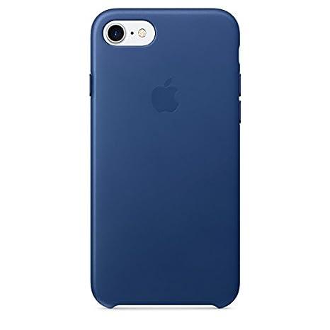 grande vendita 8e22b b524f Apple MPT92ZM/A - Cover per iPhone7 e iPhone 8, in Pelle, Blu Shappire