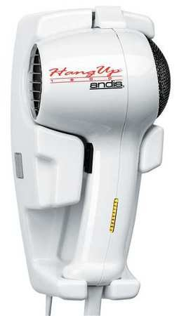 Andis Hair Dryer, Wall Mounted, White, 1600 Watts