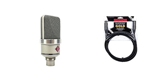 Neumann TLM 102 Nickel Microphone Bundle with Premium 15-foot XLR Mogami Gold Cable (2 Items) ()