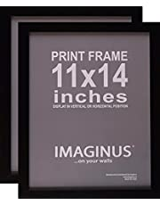 2 Pack - Imaginus Black MDF Wood Frames with Presence! (11 x 14 inches)