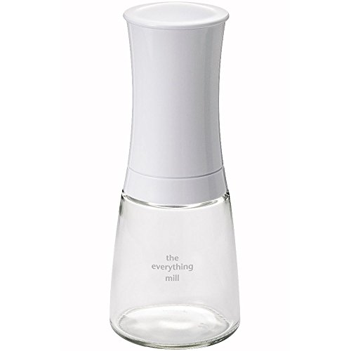 Kyocera Advanced Ceramics Pepper, Salt, Seed and Spice Mill with Adjustable Advanced Ceramic Grinder, The Everything Mill-Brilliant White