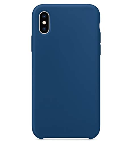 Horizon Case - BigMike Compatible for iPhone Xs Max Silicone Case, Liquid Silicone Gel Rubber Shockproof Case Soft Microfiber Cloth Lining Cushion Compatible with iPhone Xs Max (6.5