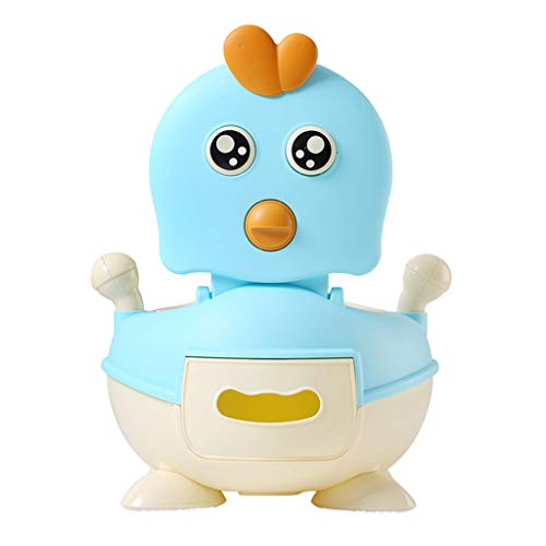 Potty Training Seat for Kids Toddler, Boys Girls Portable Cute Chicken Training Toilet Chair with Comfortable Handles and Splash Guard (Blue) ()