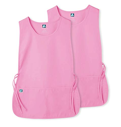 Adar Unisex Cobbler Apron (2 Pack) with 2 Pockets/Adjustable Ties - Available in 18 Colors - 7022 - Sherbet - X