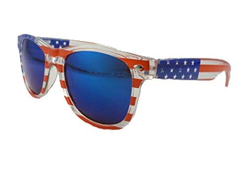 American Flag Wayfarer Sunglasses Blue - Wayfarers Flag American