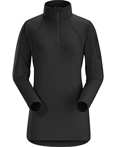 Arc'teryx Women's Rho LT Zip Neck, Black XL