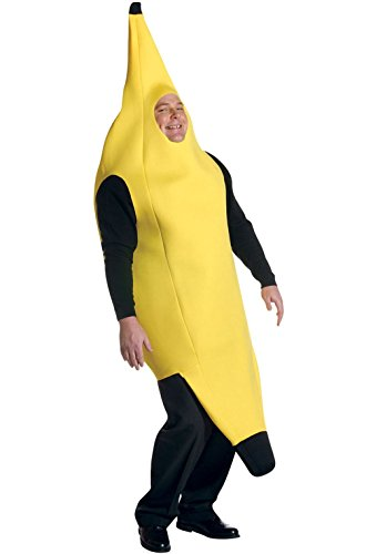 [Mememall Fashion Deluxe Banana Fruit Plus Size Costume] (Banana Deluxe Adult Costumes)