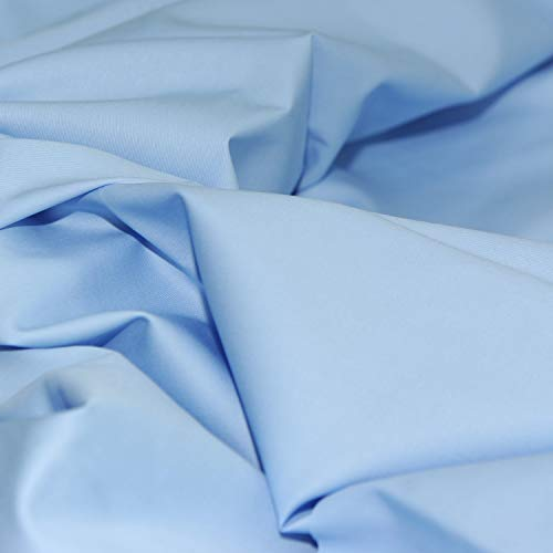 Pre-Cut Quilting Cotton Fabric Ciel Blue Color,Good Quality Craft Cloth,DIY for Sewing Crafting 61