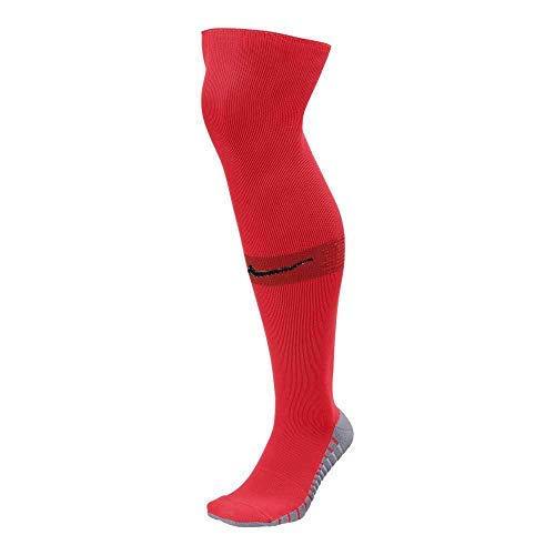 Nike Men`s Team MatchFit Core OTC Soccer Socks (Medium, Red(SX5771-671)/Bardo) by Nike