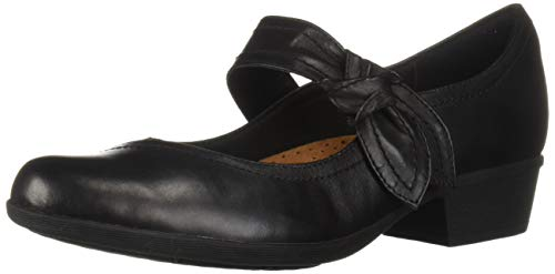 Rockport Women's Carly Plain Mary Jane Flat, Black, 7.5 M US (Shoes Jane Rockport Women Mary)
