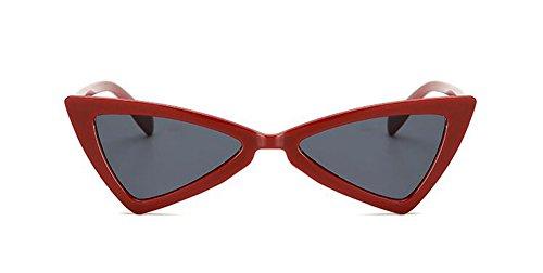 cercle soleil style en Rouge du lunettes métallique inspirées Cadre retro Lennon polarisées rond vintage de CpvWqWwB
