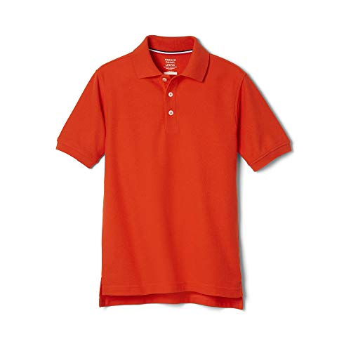 French Toast Big Boys' Short Sleeve Pique Polo, Orange, ()