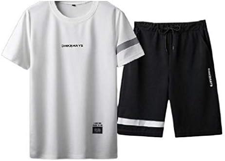 メンズ カラー ブロック レター 薄い伸縮性のあるスタイリッシュなショートパンツ スポーツウェア